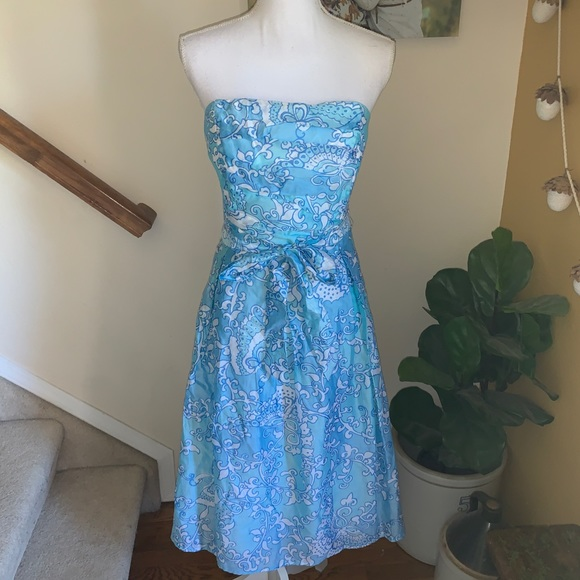 Lilly Pulitzer Dresses | Blue Strapless